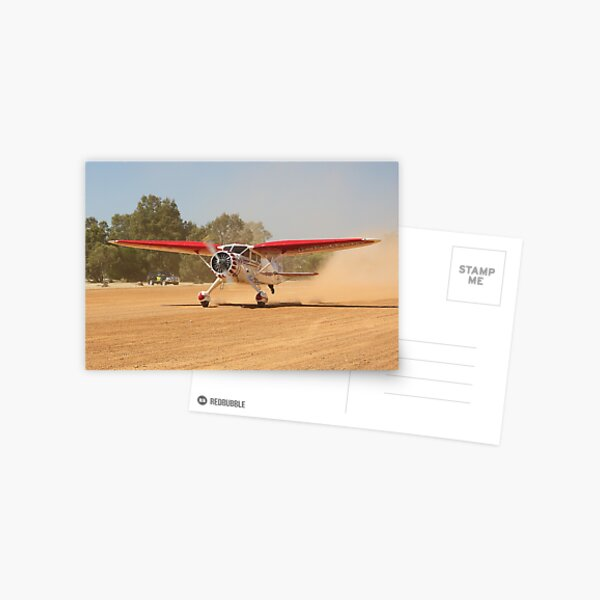 Stinson Reliant on Take Off Postcard