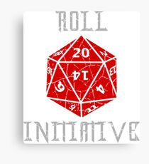 Roll Initiative Dungeons & Dragons gift idea Canvas Print