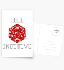 Roll Initiative Dungeons & Dragons gift idea Postcards