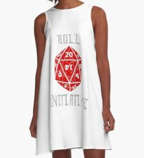 Roll Initiative Dungeons & Dragons gift idea A-Line Dress