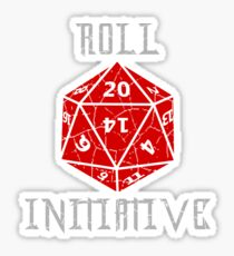 Roll Initiative Dungeons & Dragons gift idea Sticker
