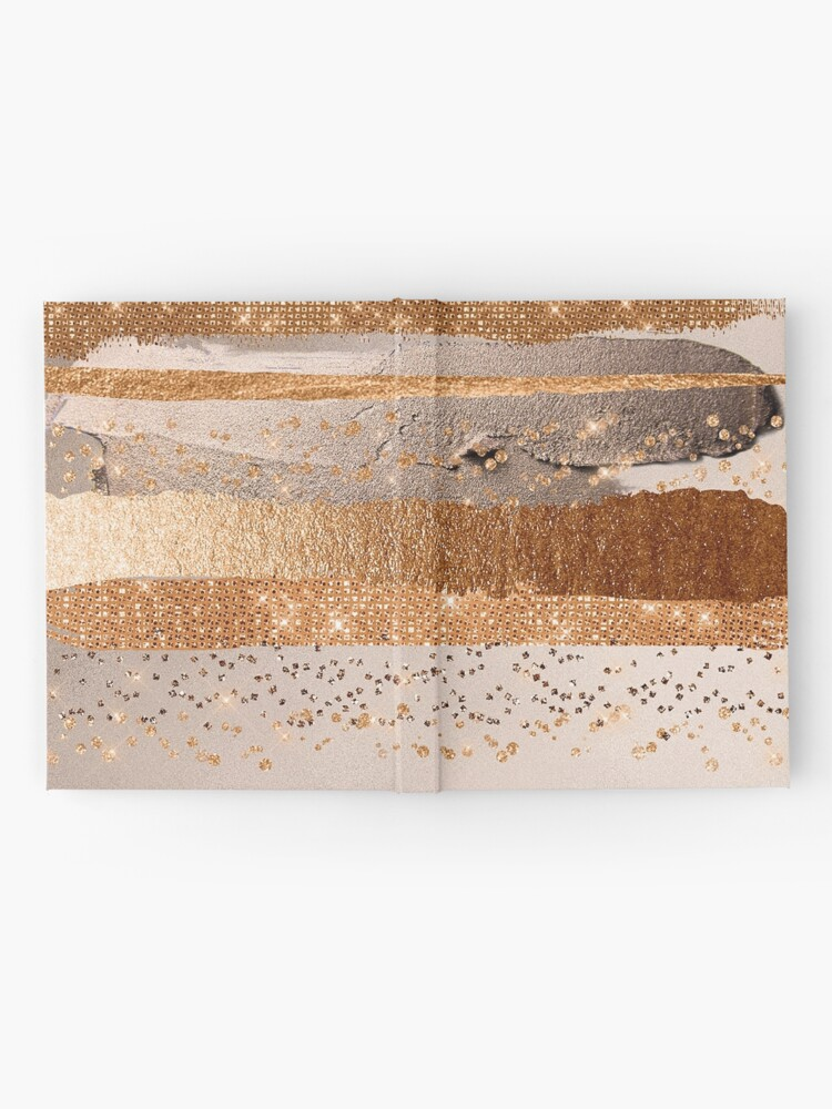 Alternate view of Glitter and Metal Foil Strokes on Copper Blush Metal Hardcover Journal