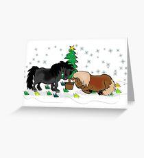 Mini Shetland Christmas card Greeting Card