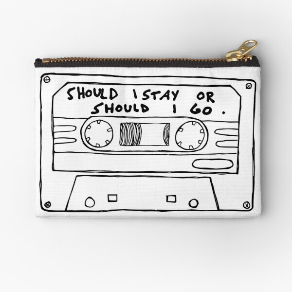 Should I Stay or Should I Go Cassette  Zipper Pouch