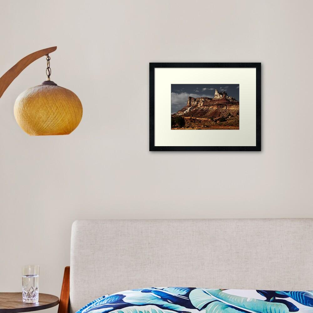 Temple Mountain Framed Art Print