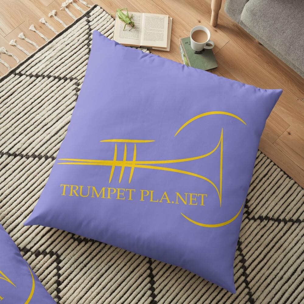 Trumpet Planet Logo Floor Pillow