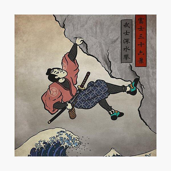 Climbing | Samurai Deep Water Soloing  Photographic Print
