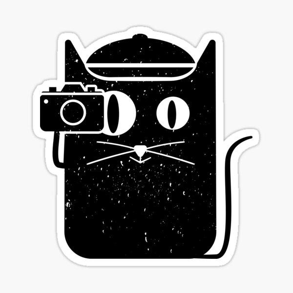 Cat and Camera Sticker