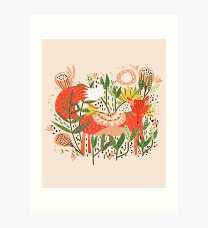 Happy Fox Tale Art Print