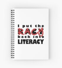 Racy Librarian Spiral Notebook