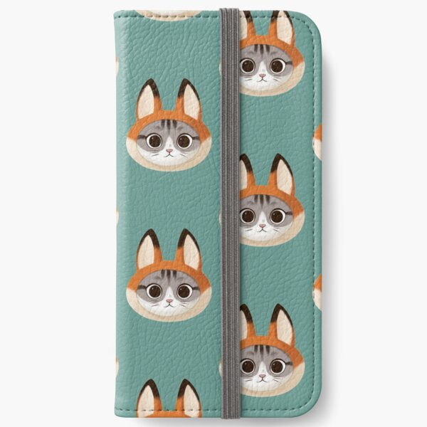 Cat with a fox hat iPhone Wallet
