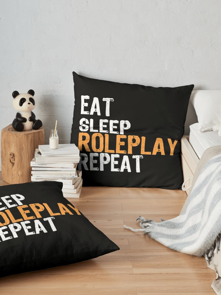 Alternate view of Eat Sleep ROLEPLAY Repeat Floor Pillow
