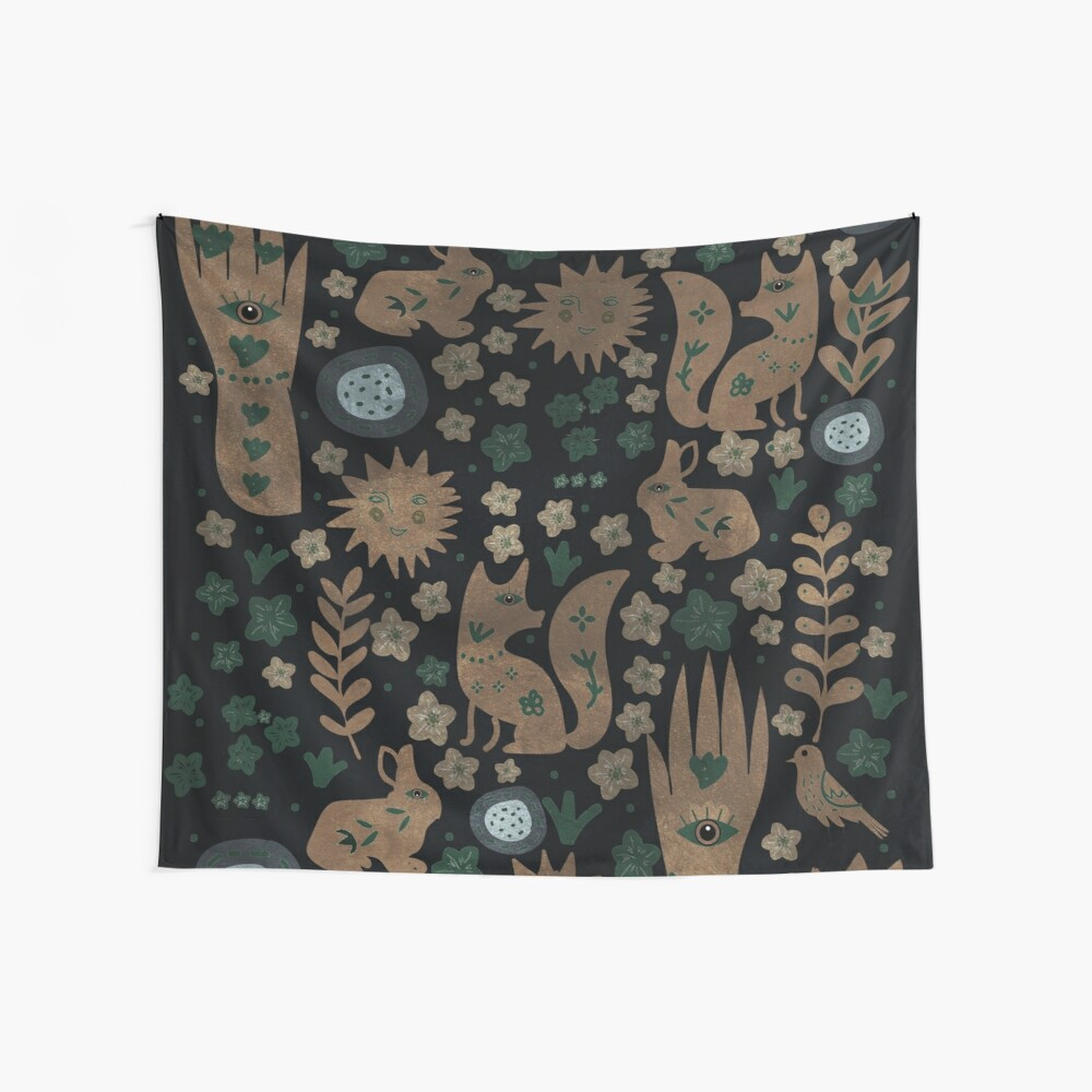 Nightlife Elements Wall Tapestry