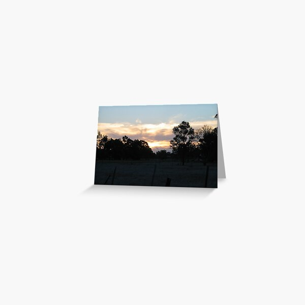 Serpentine Sunset Greeting Card