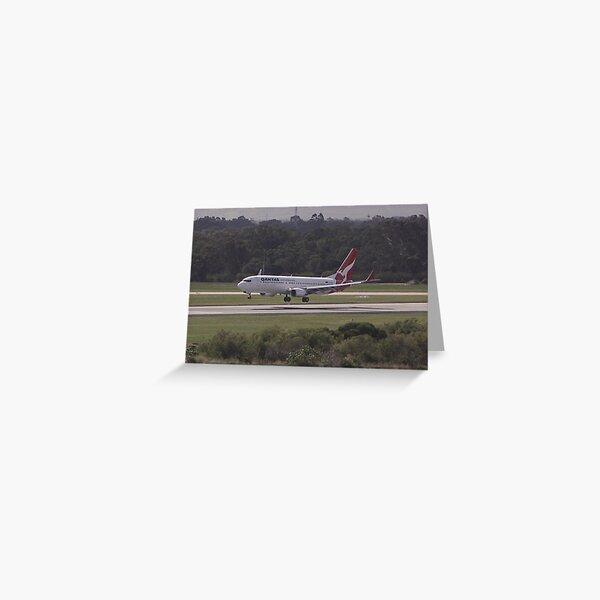 Qantas 737 Landing Greeting Card