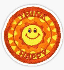 Think Happy Patch Sticker