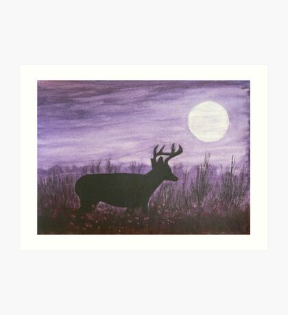 Moon light walk Art Print