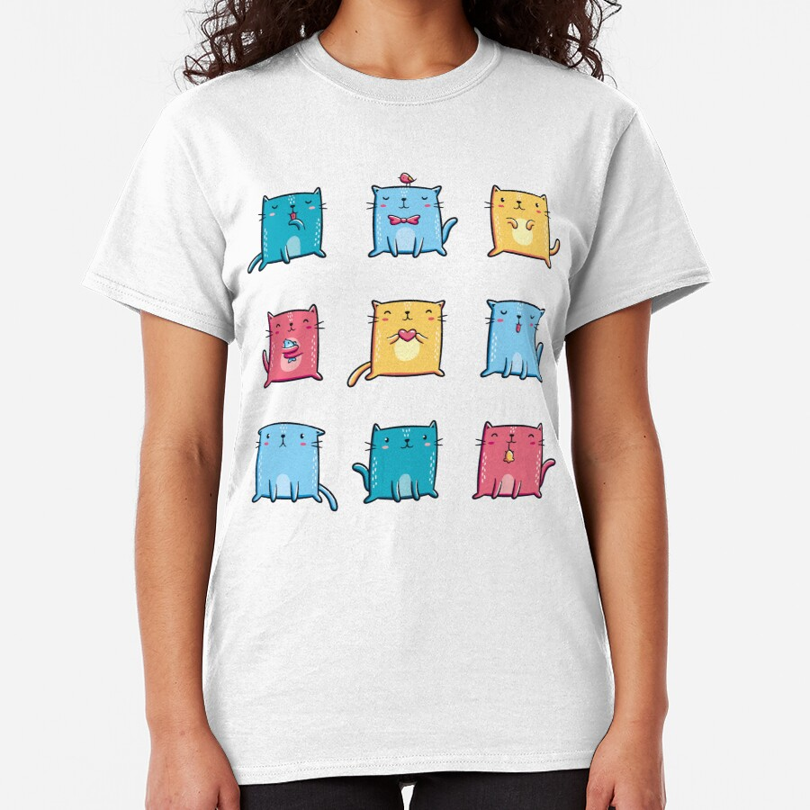 Colorful Cats Classic T-Shirt