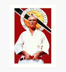 Helio Gracie - Berühmter brasilianischer Großmeister des Jiu-Jitsu Kunstdruck