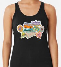 Asheville Sticker Collection Racerback Tank Top