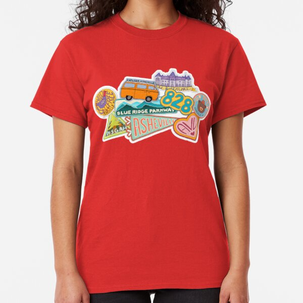 Asheville Sticker Collection Classic T-Shirt