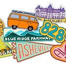 Asheville Sticker Collection by Annie Riker