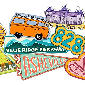 Asheville Sticker Collection by annieriker