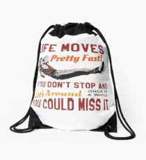 Speichern Sie Ferris, das Leben bewegt sich ziemlich schnell Zitat, berühmte 80er Jahre High School T-Shirt, Original Turnbeutel