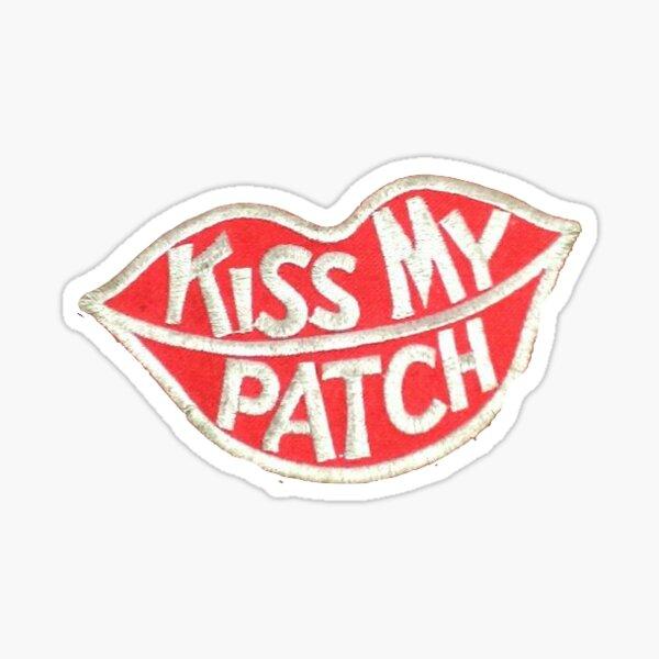 kiss my patch Sticker