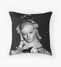 Antique replica Victorian Mannekin Bisque doll Throw Pillow