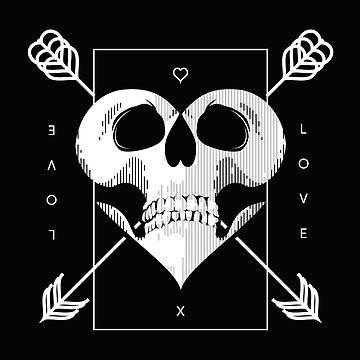 Skull Valentine (versión blanca) de samuelzadames