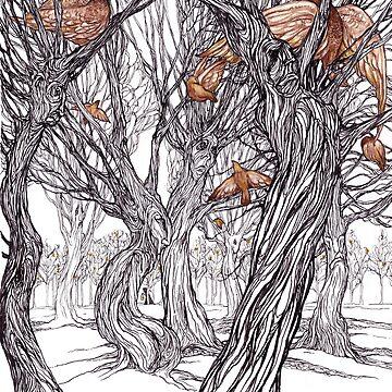 pájaros dorados de jessicagadra