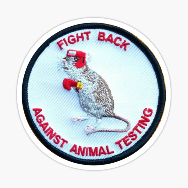 fight back against animal testing Sticker
