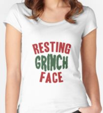 Resting Grinch Face  Women's Fitted Scoop T-Shirt