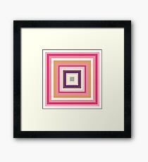 HIP TO BE SQUARE - PINK Framed Print