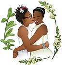 Adorable Lesbian Brides by fabfeminist