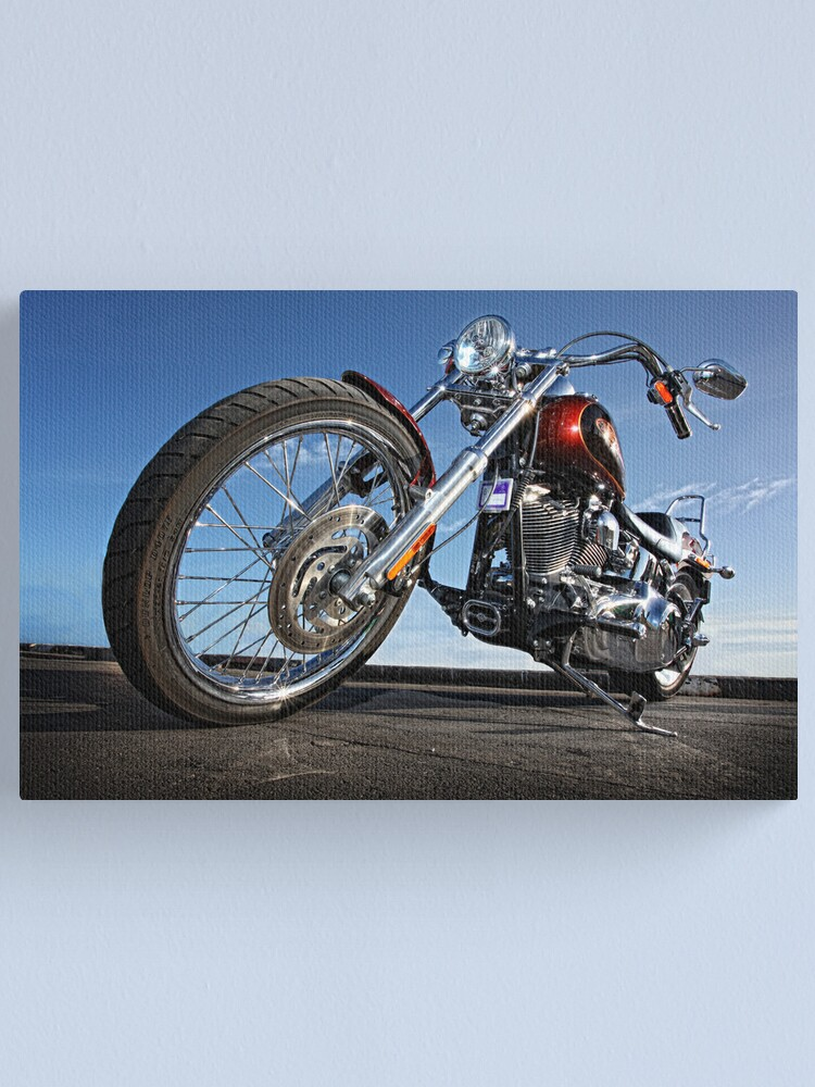 Alternate view of Low Rider Harley. Canvas Print