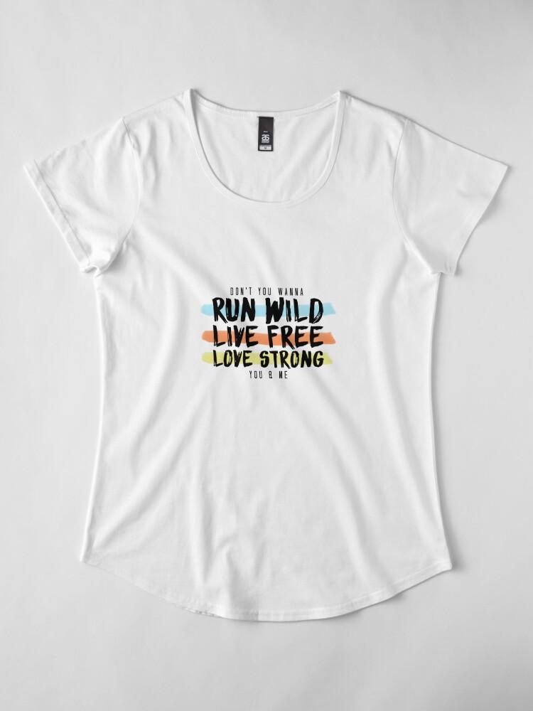 Alternative Ansicht von Wild ausführen Lebe frei. Lange stark. Premium Rundhals-Shirt