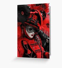 Red carnaval Greeting Card