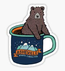 Asheville Bear Cup Sticker