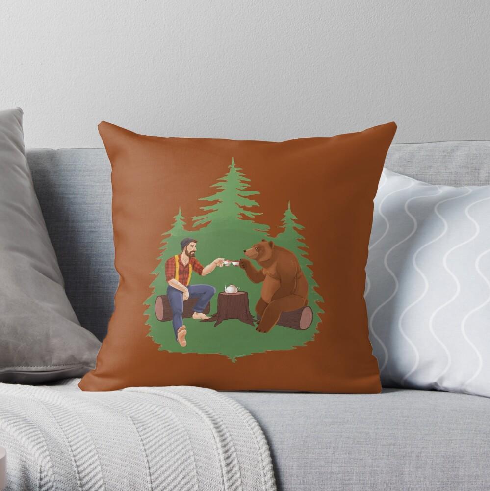 Gentleman's Tea - Color Throw Pillow