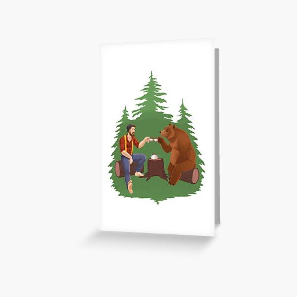 Gentleman's Tea - Color Greeting Card