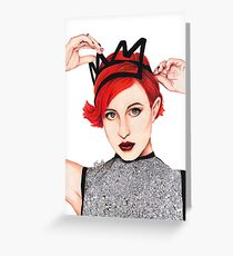Hayley Williams Greeting Card
