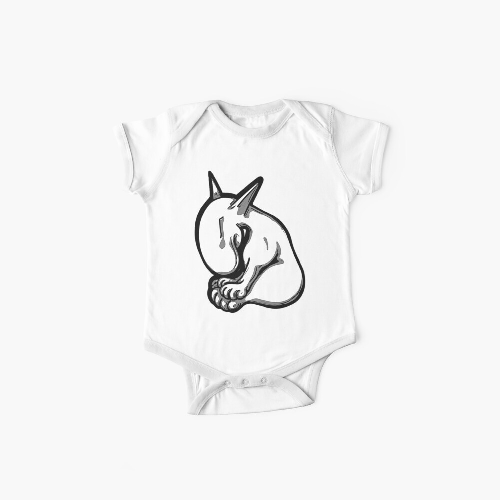 Quot Shy English Bull Terrier Quot Baby One Piece By Sookiesooker