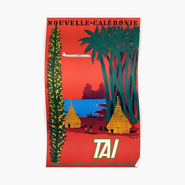 Affiche de voyage vintage de Nouvelle-Calédonie restaurée Poster