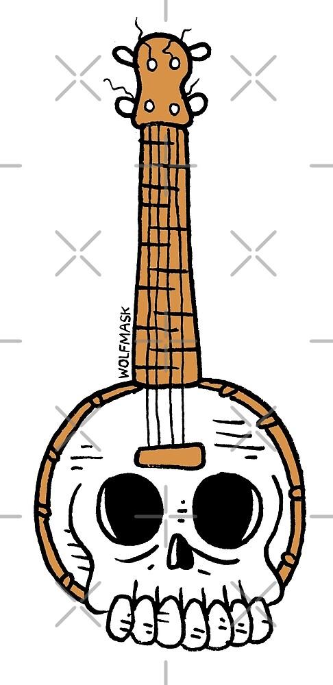 Banjo of Death by wolfmaskart