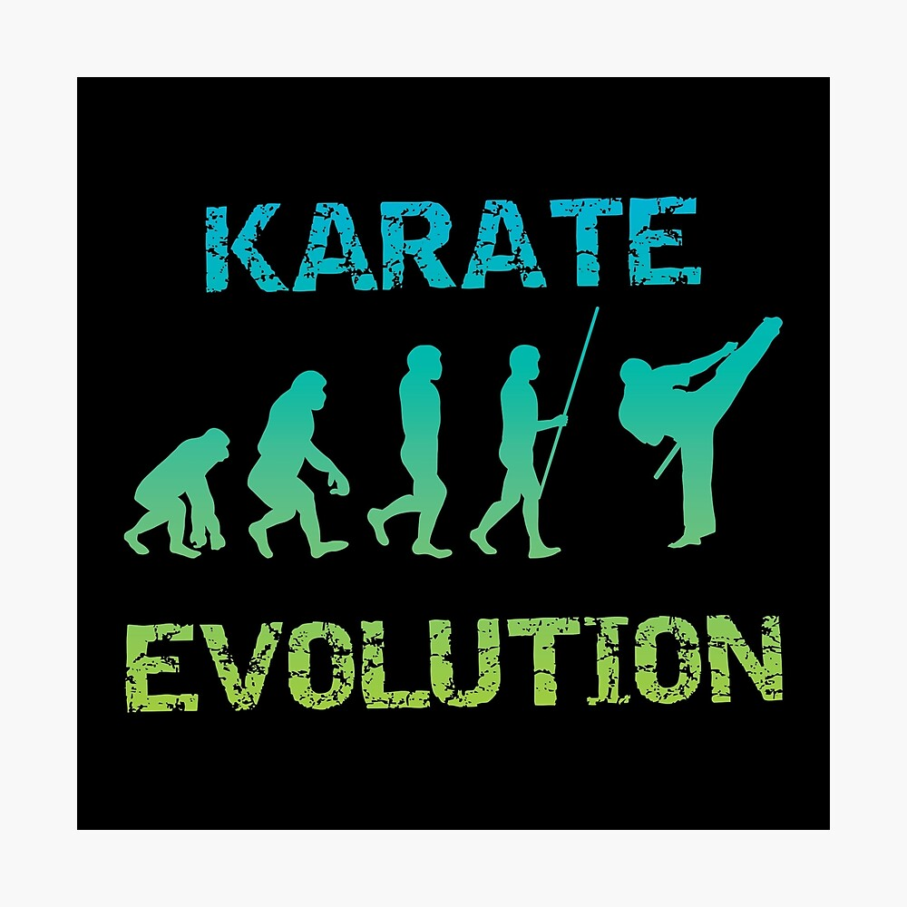 Karate Evolution Kampfsport Fotodruck