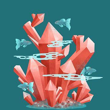 Cristal bajo el agua de beesants