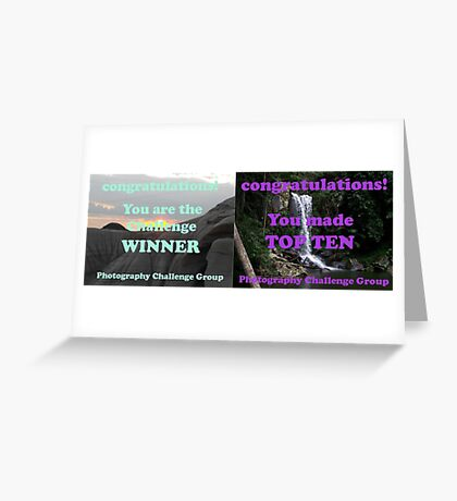 Winner and Top Ten. Will be split if I win! Greeting Card