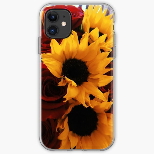 Sunflower and roses bouquet  iPhone Soft Case